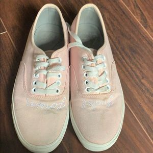 UNIF fucked forever pastel pink sneakers size 9.5